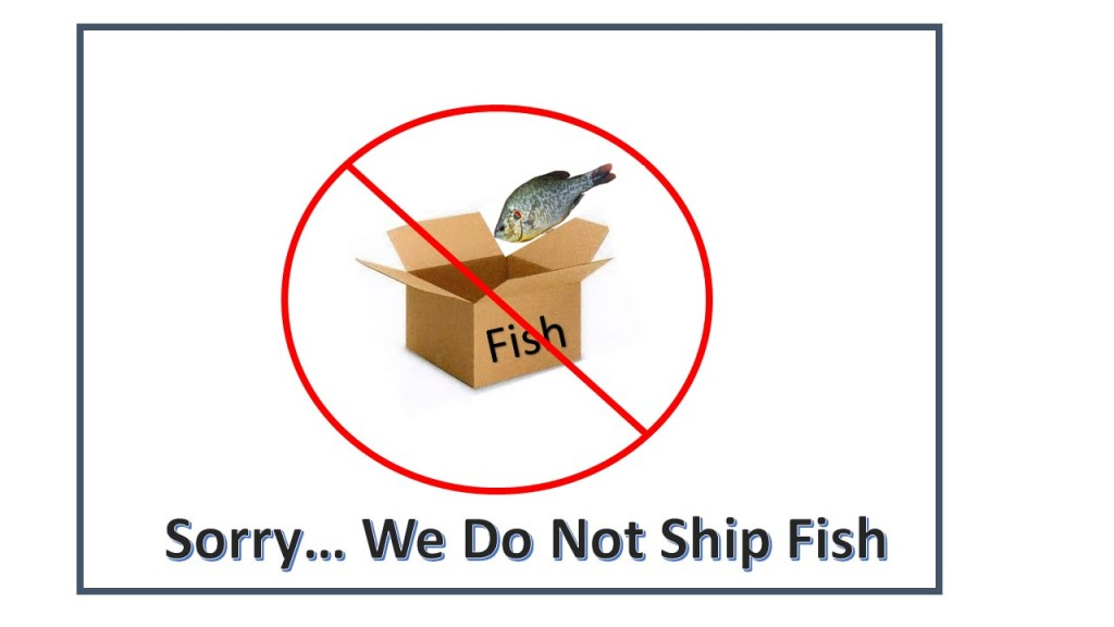 We do not ship fish